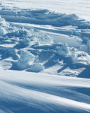 Pure arctic snow formation Royalty Free Stock Photo