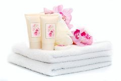Pure SPA accessories Stock Photos