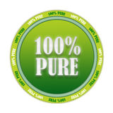 100% pure stamp Royalty Free Stock Image
