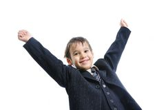 Pure success on kid's face Royalty Free Stock Photo