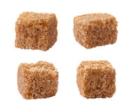 Pure Sugar Cane Cubes isolated on white Stock Image