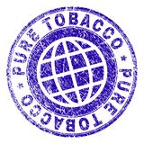 Scratched Textured PURE TOBACCO Stamp Seal royalty free illustration