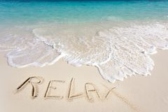 Pure tropical beach Royalty Free Stock Images