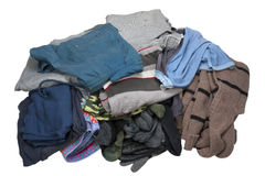 Pure and washed men's top wear heap Royalty Free Stock Image