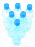 Pure water. Bottles of pure mineral water isolated on white Royalty Free Stock Photo