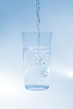 Pure water. In transparent glass Royalty Free Stock Photo