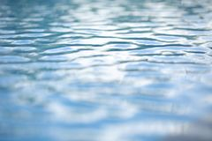 Pure water bokeh for background Clean water background with calm waves Blue sky reflection royalty free stock photography