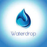 Pure water droplet. Symbol of a pure water droplet.The art represents the clarity and purity of water drop .This is a symbol to save every drop water in our life Stock Photography