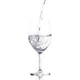 Pure water is emptied into a glass of water. Pure water is emptied into a glass Stock Photography