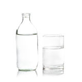 Pure water in glass! Fresh and healthy Royalty Free Stock Images