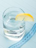 Pure water for healthy life measure tape Royalty Free Stock Photos