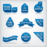 Pure water labels Stock Photos