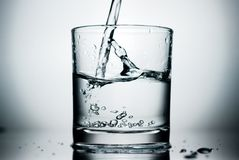 Pure Water Shot Stock Photo
