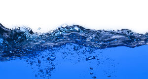 Pure Water splash with air bubbles Royalty Free Stock Images