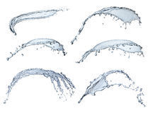 Pure water splash collection Stock Images