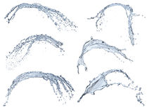 Pure water splash collection Royalty Free Stock Photos