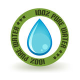Pure Water Stamp Royalty Free Stock Photography