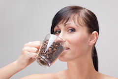 Pure weak coffe taste Royalty Free Stock Photo