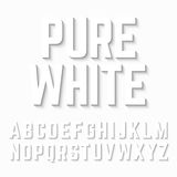 Pure White alphabet shadow Royalty Free Stock Photo