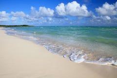 Pure white beach. Of the island of Cayo Guillermo. Atlantic Ocean. Cuba Stock Photos