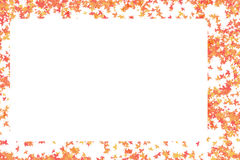 Pure white blank sheet of paper in a frame of red autumn Royalty Free Stock Images