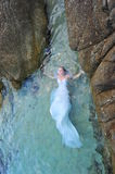 Pure white mermaid - bride portrait Stock Images