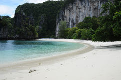 Pure White Sand on the Koh Hong Island Beach Royalty Free Stock Image