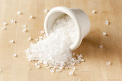 Pure White Sea salt for cooking Royalty Free Stock Image