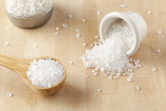 Pure White Sea salt for cooking Stock Photos