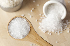 Pure White Sea salt for cooking Stock Images