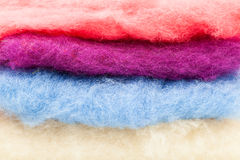 Pure Wool Textured. Details of a Colored wool tissues Stock Photography