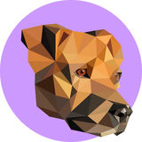 Purebred dogs in a polygon style. Fashion illustration of the tr. End in style on a pink background. Farm animals. Portrait of a dog Stock Photography