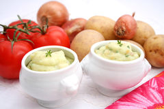 Puree of potatoes Stock Images