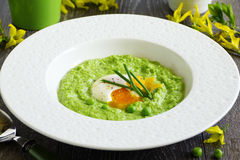 Puree the soup peas Royalty Free Stock Images
