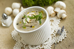 Pureed mushroom soup Royalty Free Stock Photos