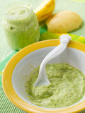 Pureed vegetables for baby Stock Images