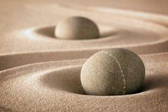 Pureza y espiritualidad en jardín del zen Foto de archivo libre de regalías