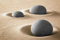 Purezza ed armonia del giardino di zen in natura Fotografie Stock