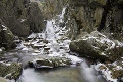 Purgatorio瀑布, Rascafria,马德里,西班牙 库存图片