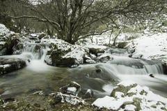 Purgatorio vattenfall, Rascafria, Madrid, Spanien Royaltyfria Foton