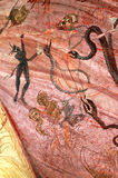 The purgatory on a mural. Tismana, Romania Royalty Free Stock Images