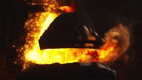 Purging metal in BOF stock video footage