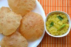Puri Bhaji Royalty Free Stock Photo