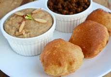 Puri and Chole Stock Photos