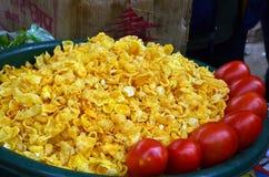 Puri de Bhell en nourriture indienne de rue Image libre de droits