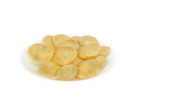 Puri of panipuri kept on a plate Stock Photography