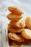 Puri. Pooris indian traditional dish on a tray Royalty Free Stock Photos