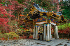 Purification area at Taiyuinbyo Shrine in Nikko, Japan Royalty Free Stock Photo