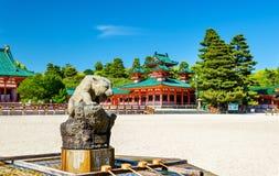 Purification fountain at Heian Shrine in Kyoto Stock Photos