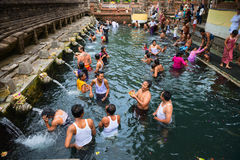 Purification in sacred holy spring water, Bali Royalty Free Stock Photo